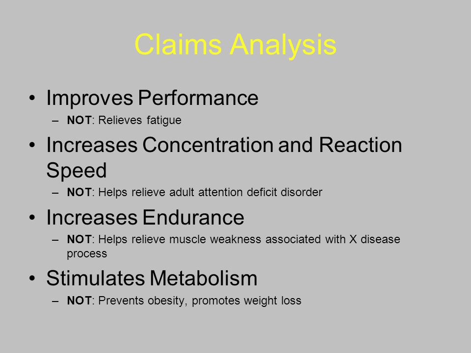Claims Analysis Improves Performance