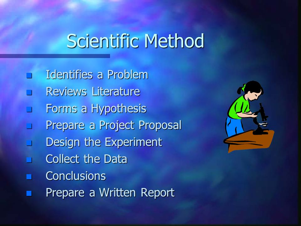 Scientific Method Identifies a Problem Reviews Literature