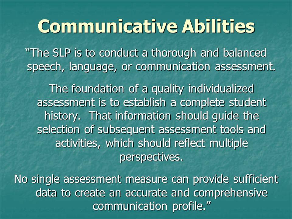 Communicative Abilities