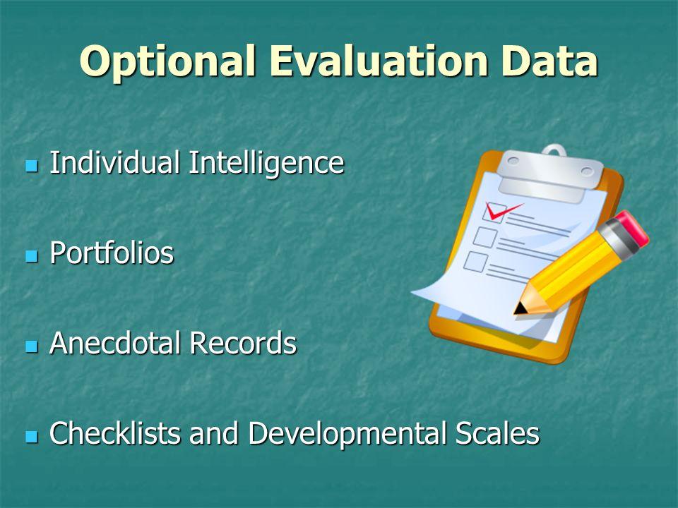 Optional Evaluation Data