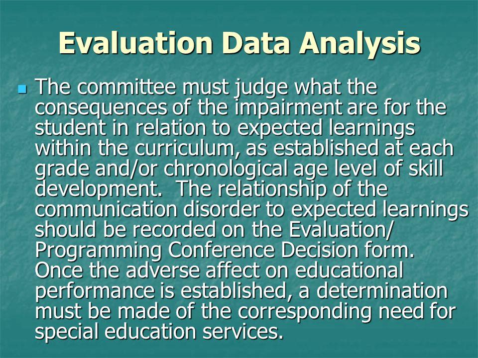 Evaluation Data Analysis