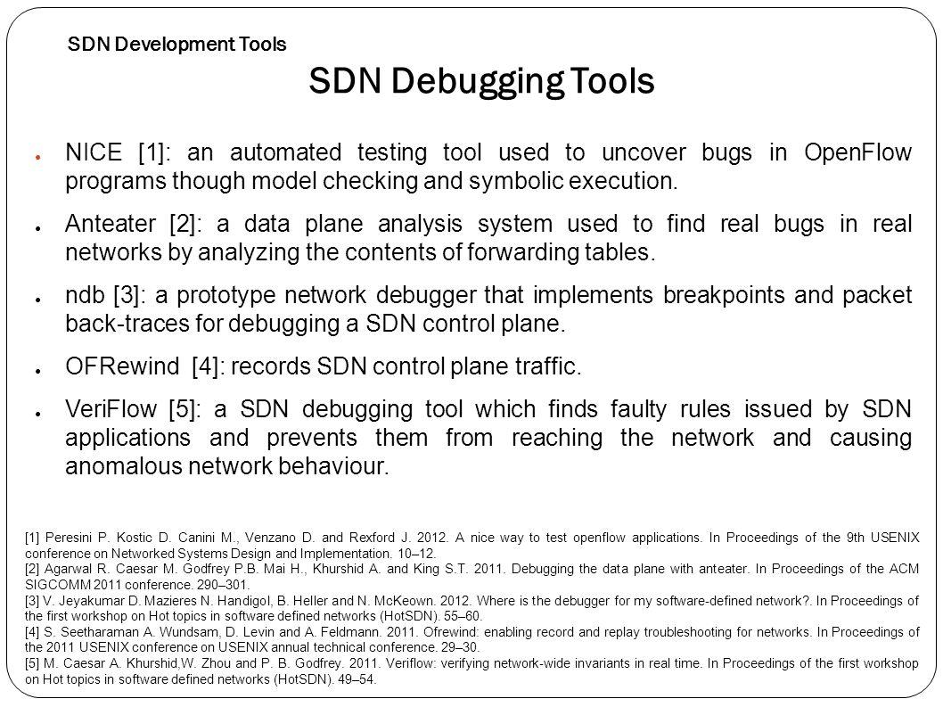 SDN Development Tools SDN Debugging Tools.