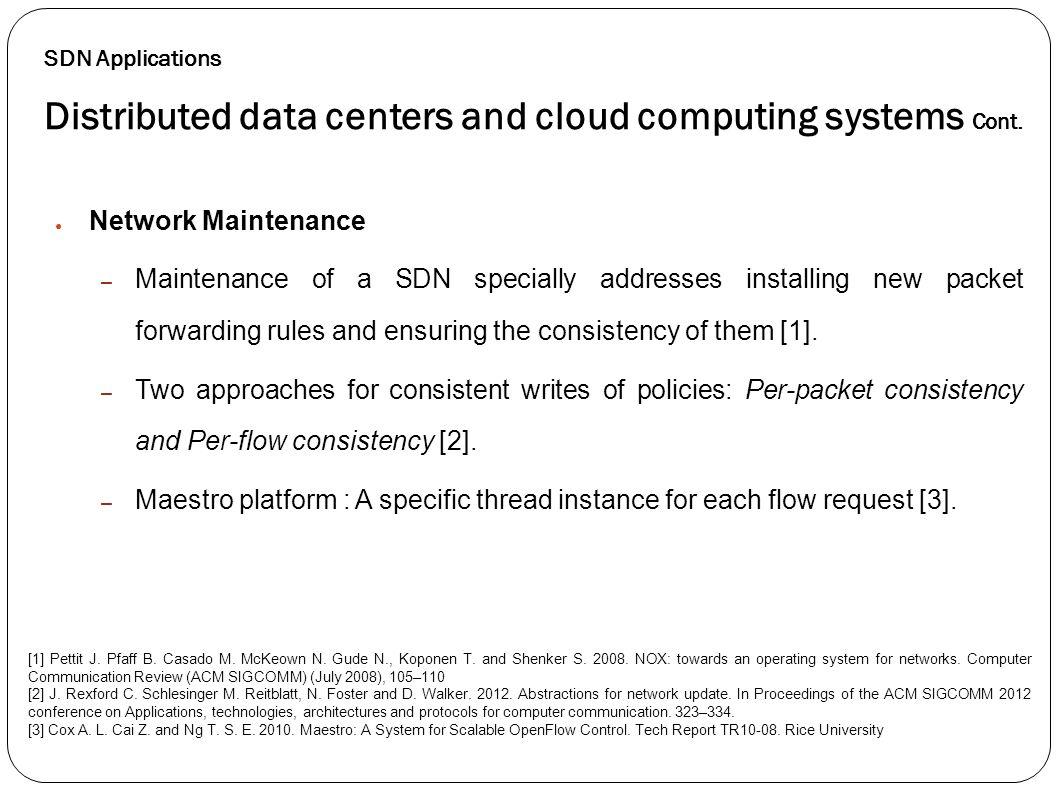 Distributed data centers and cloud computing systems Cont.