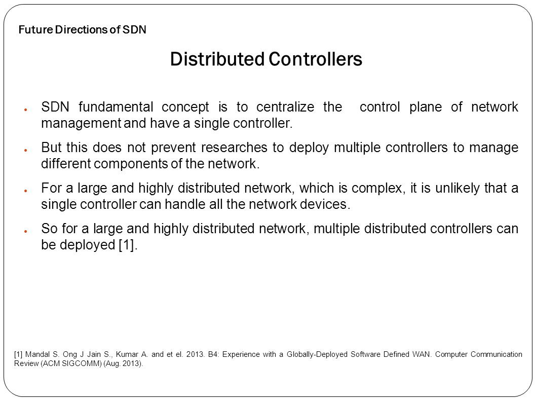 Distributed Controllers