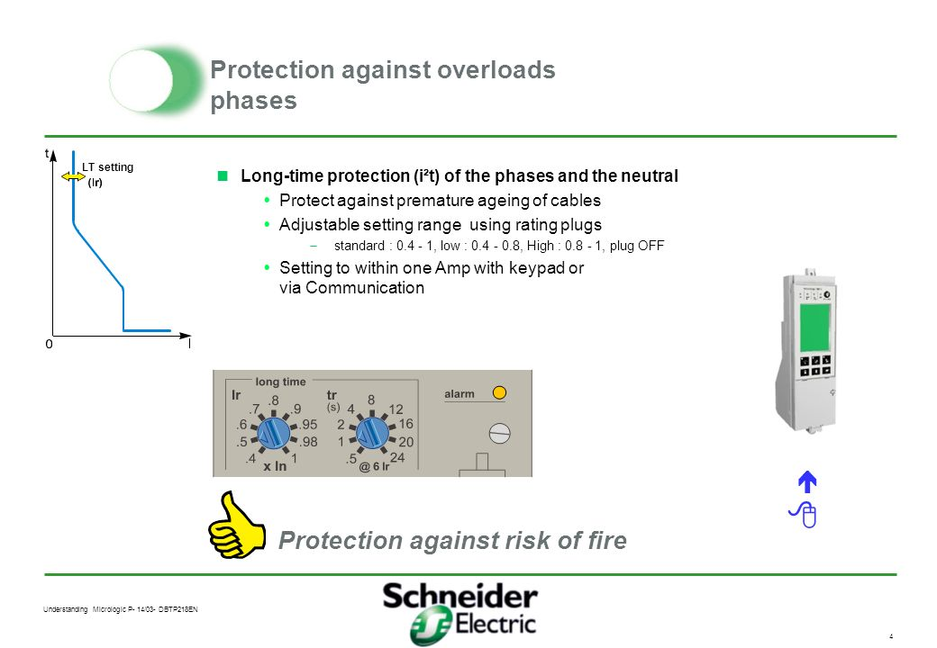 Protection against overloads phases