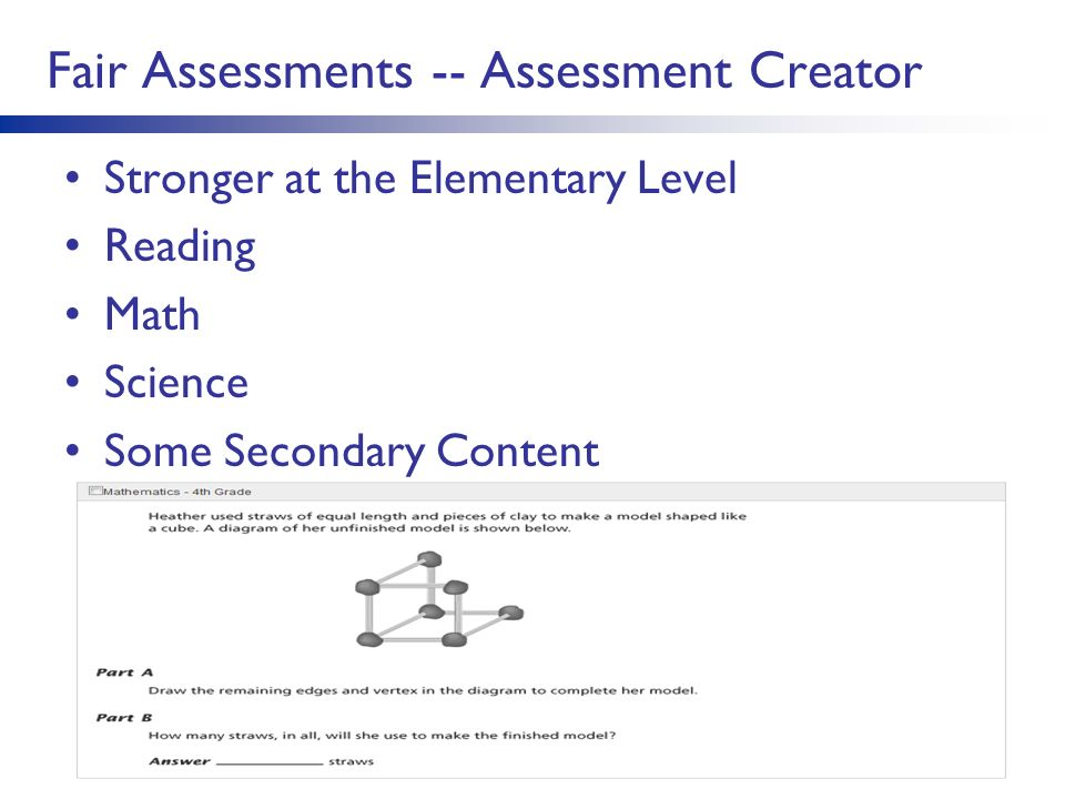 Fair Assessments -- Assessment Creator