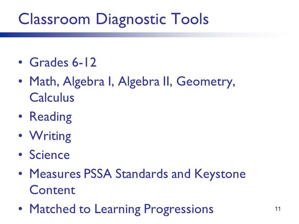 Classroom Diagnostic Tools