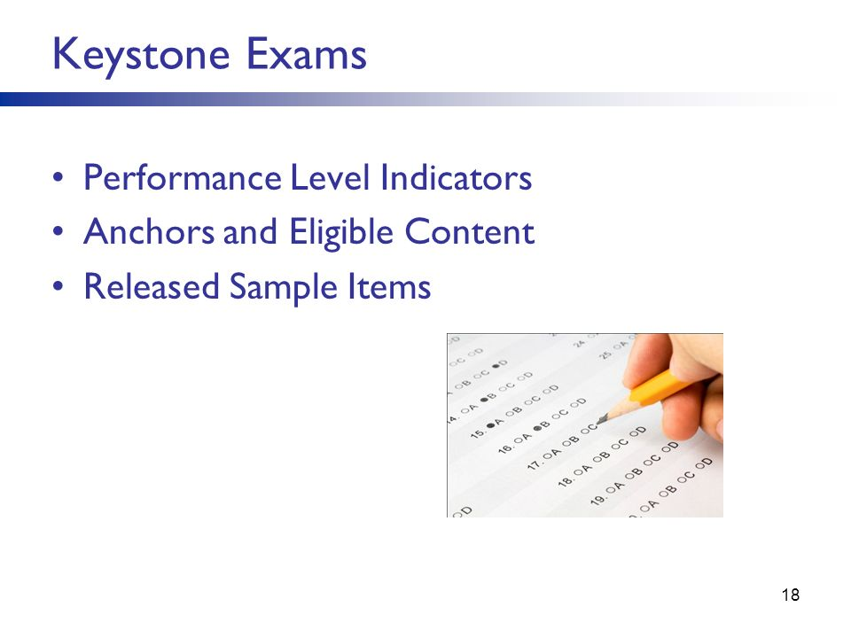 Keystone Exams Performance Level Indicators