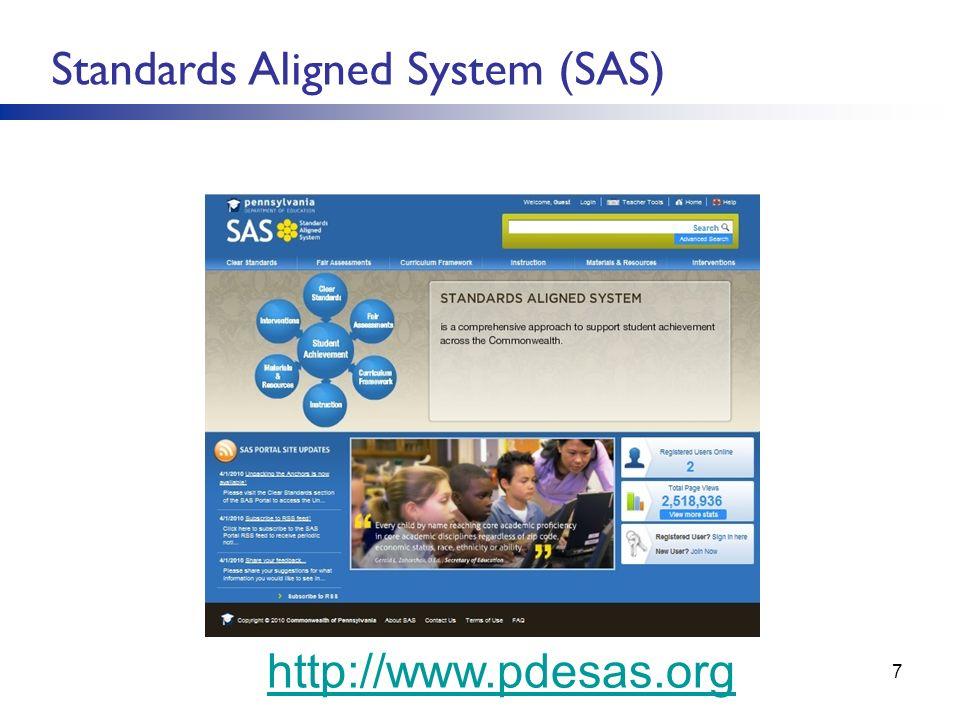 SStandards Aligned System (SAS)SSS(SAS