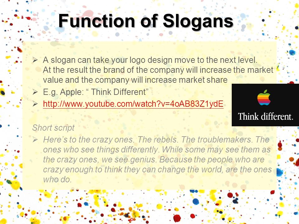 Function of Slogans