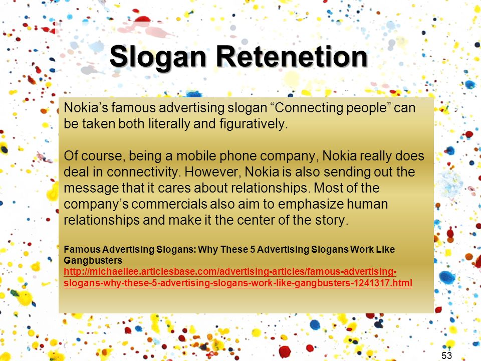 Slogan Retenetion