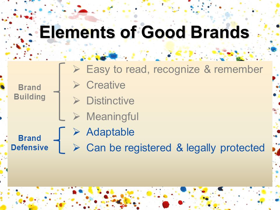 Elements of Good Brands