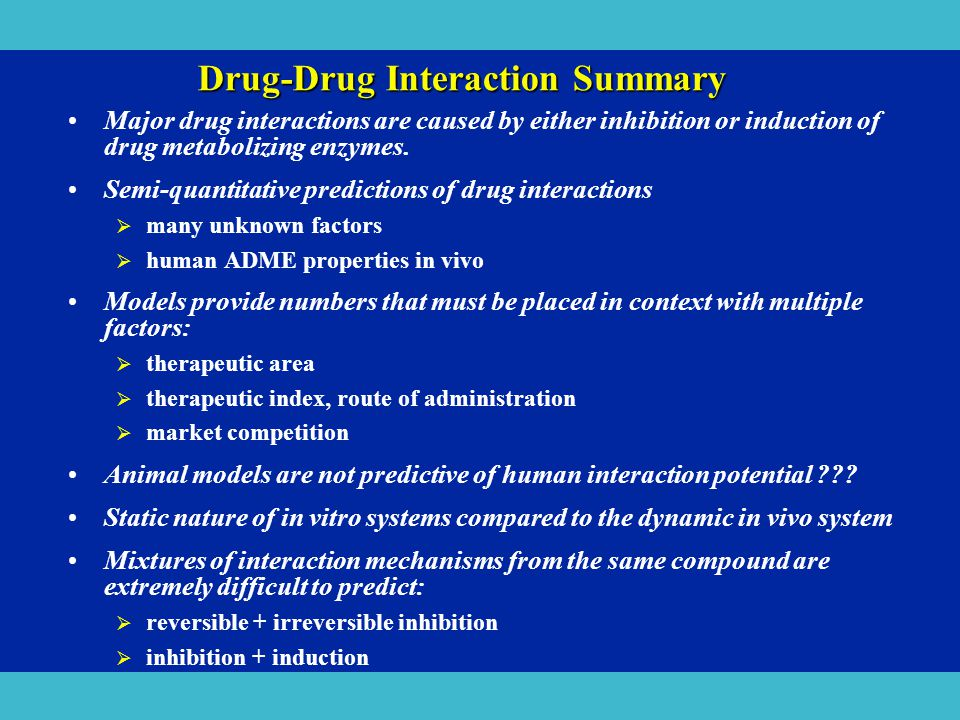 Drug-Drug Interaction Summary