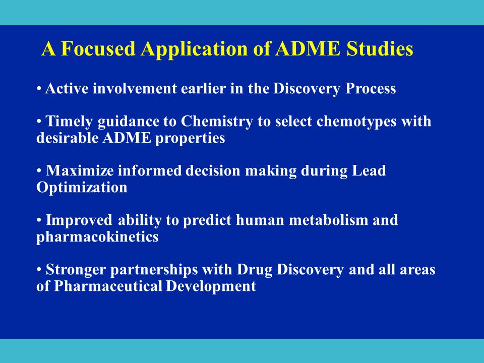 A Focused Application of ADME Studies
