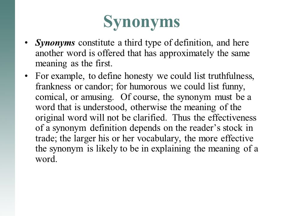 11 Synonyms Synonyms constitute ...  sc 1 st  SlidePlayer & Language and Definition - ppt video online download