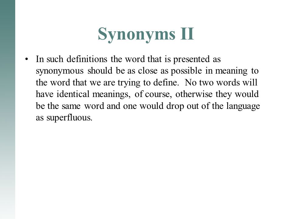 Synonyms II