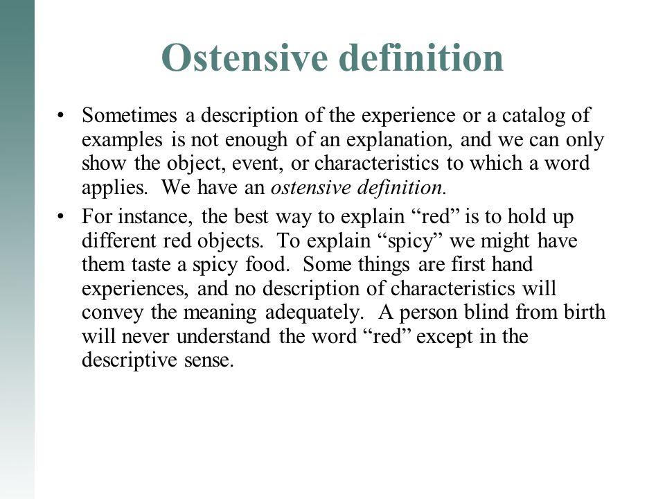 Ostensive definition