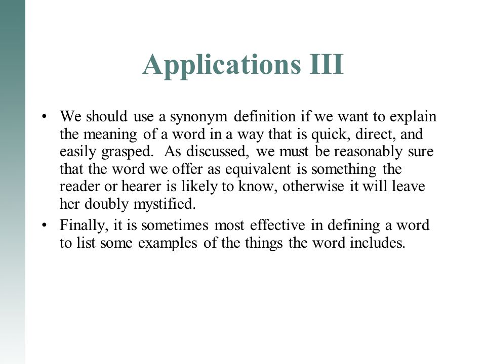 Applications III