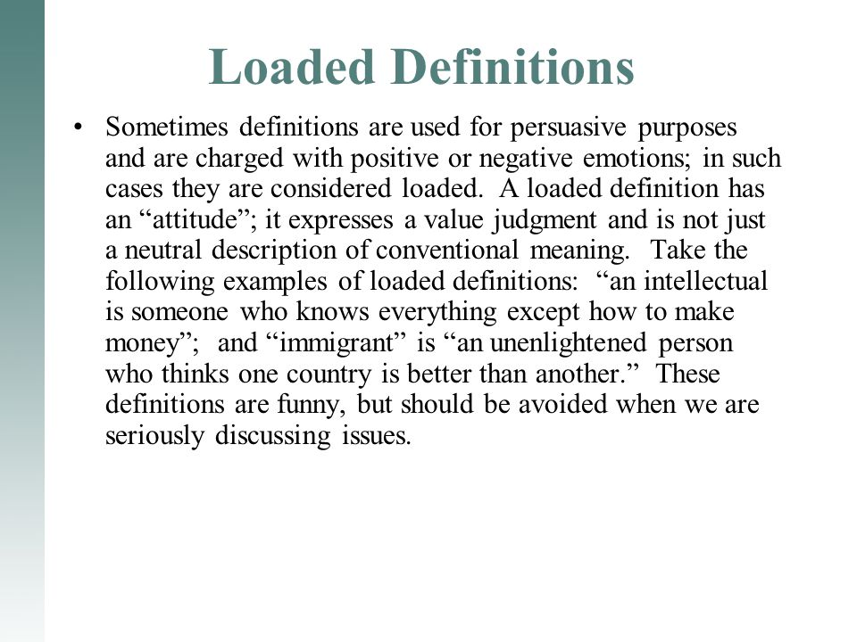 Loaded Definitions