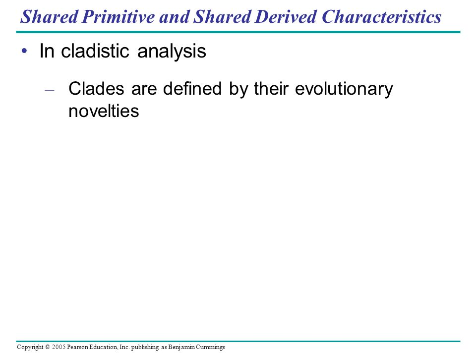 Shared Primitive and Shared Derived Characteristics