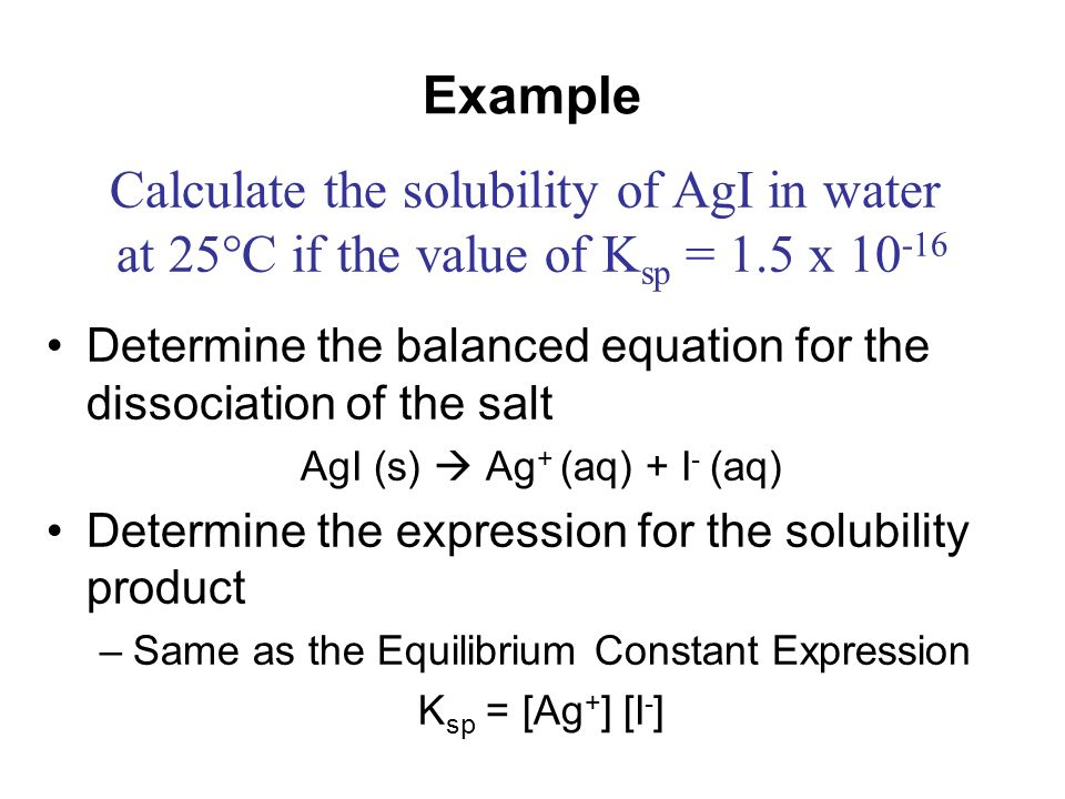 determination of the solubility product constant Solubility product constant in general, when ionic compounds dissolve in water, they go into solution as ions when the solution becomes saturated with ions, that is, unable to hold any more, the excess solid settles to the bottom of the container and.