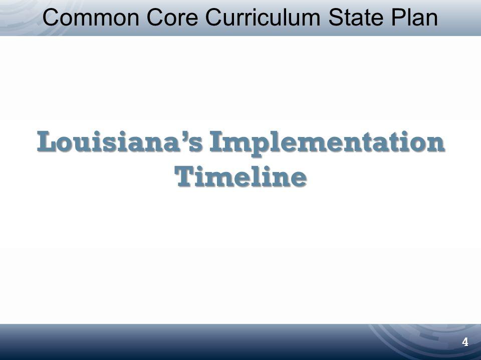 Louisiana's Implementation Timeline
