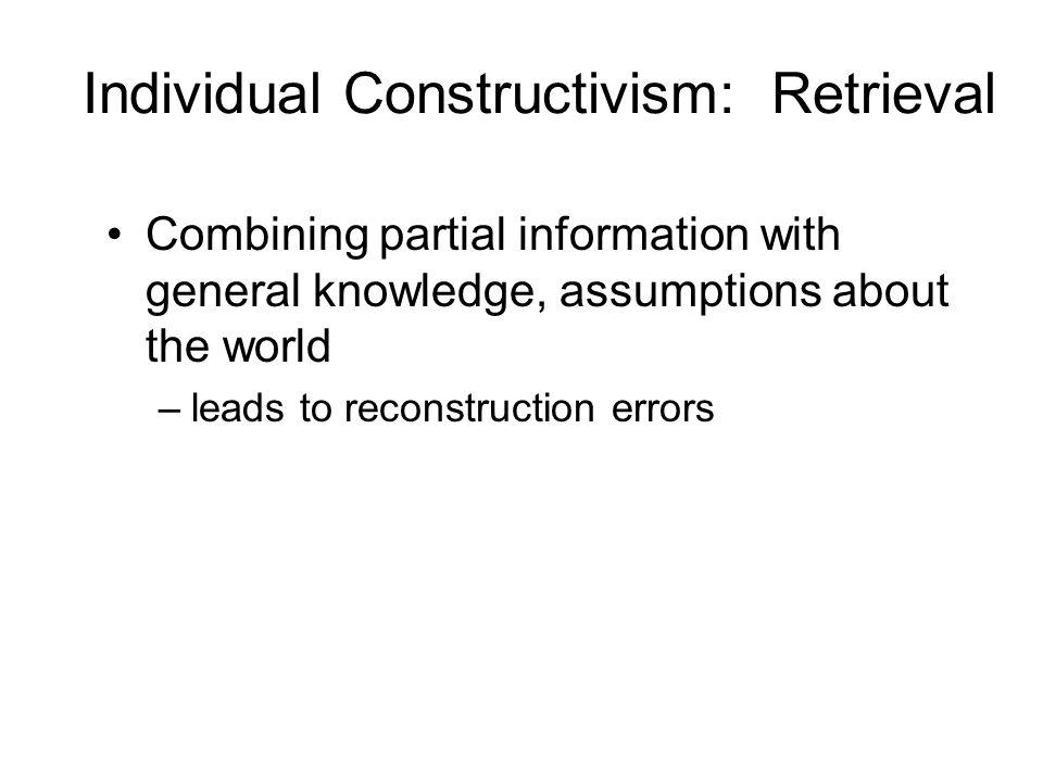 Individual Constructivism: Retrieval