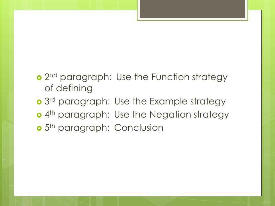 DEFINITION ESSAY You can use these strategies of definition to ...