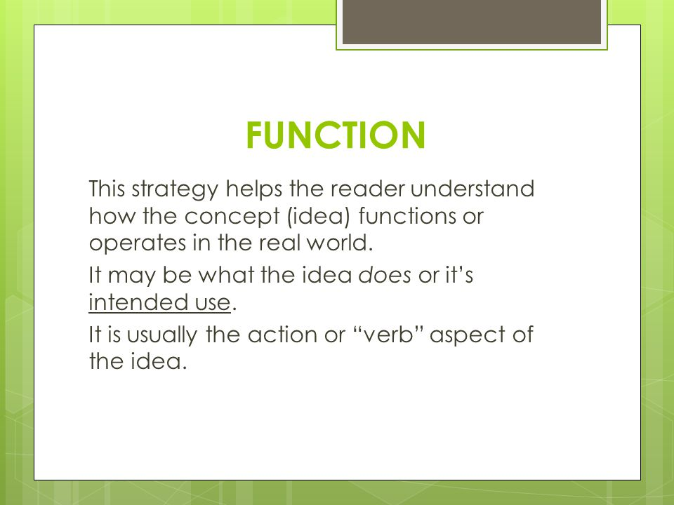 definition essay you can use these strategies of definition to  2 function