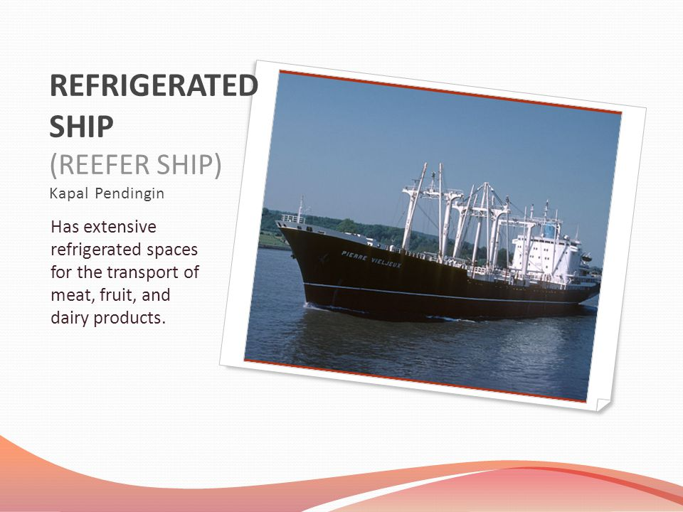 REFRIGERATED SHIP (REEFER SHIP) Kapal Pendingin