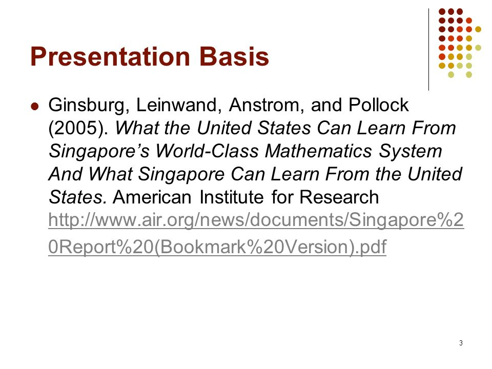 Presentation Basis