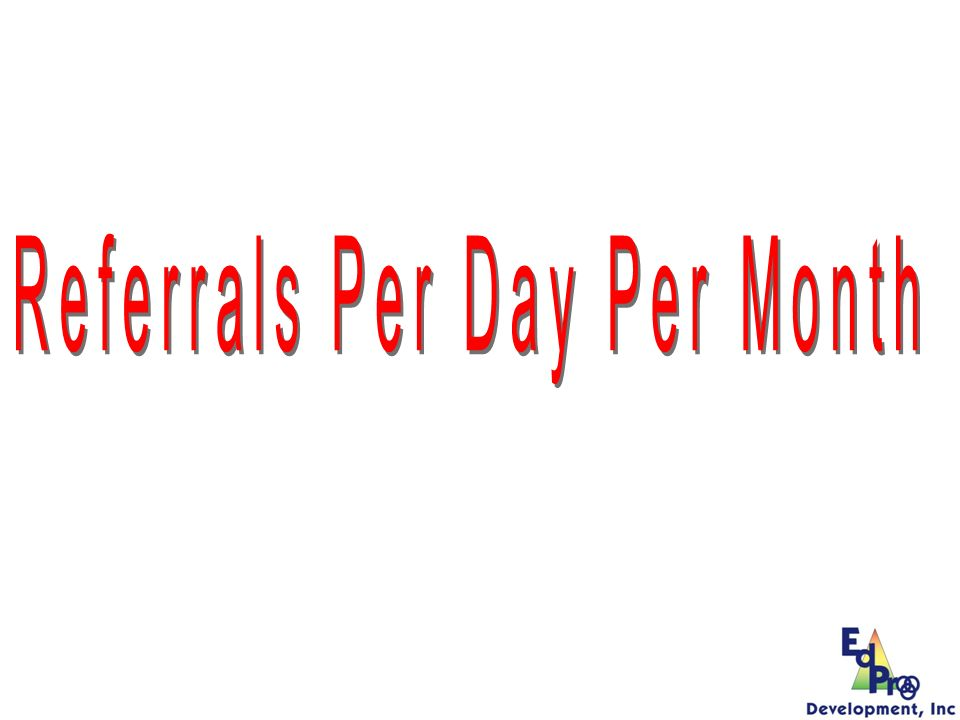 Referrals Per Day Per Month