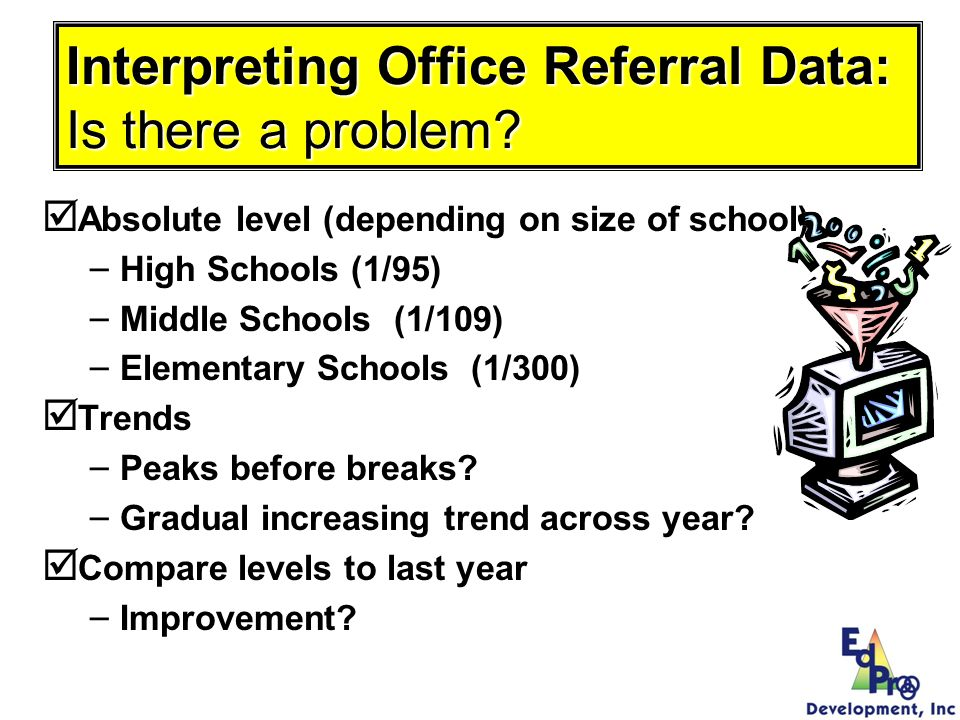 Interpreting Office Referral Data: Is there a problem
