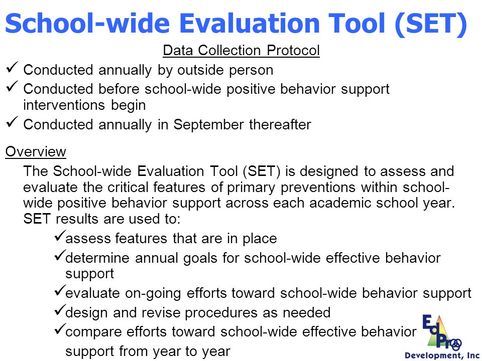 School-wide Evaluation Tool (SET)