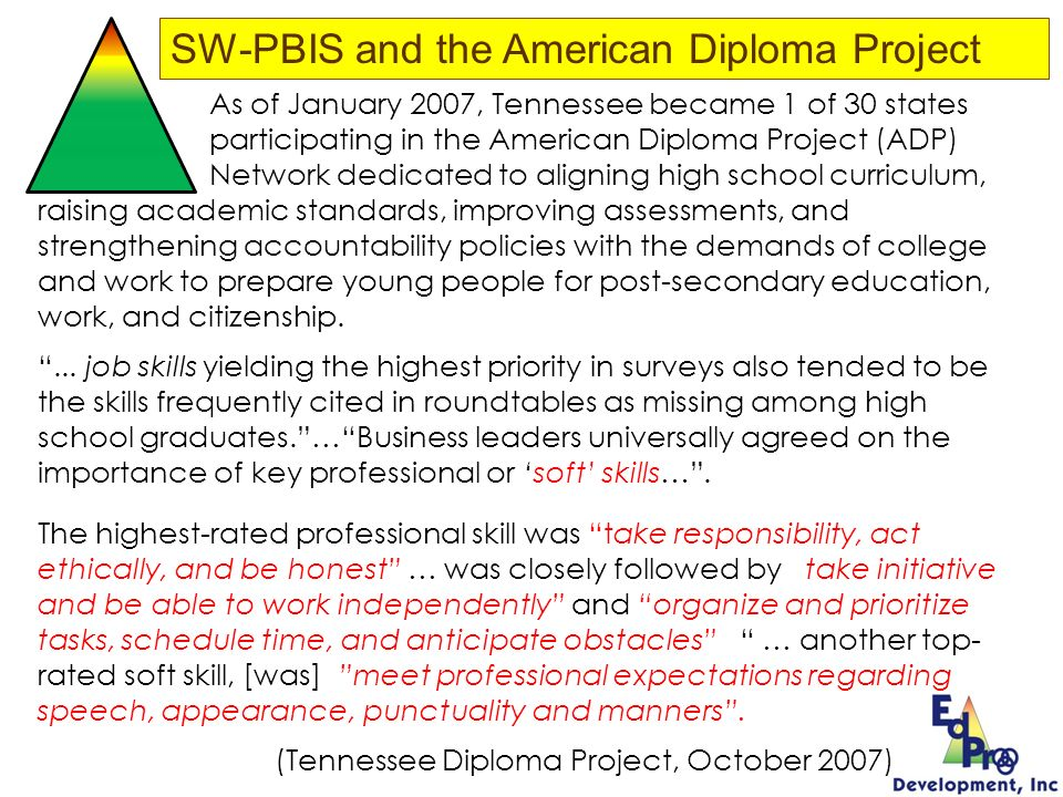 SW-PBIS and the American Diploma Project