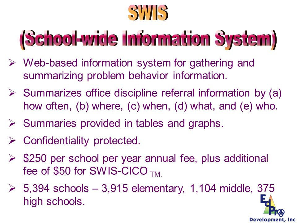 (School-wide Information System)
