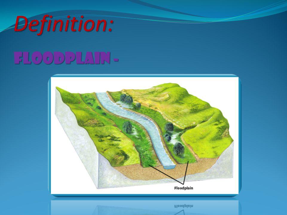 Definition: floodplain -