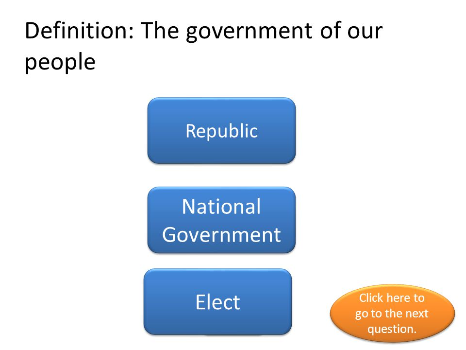 Definition: The government of our people