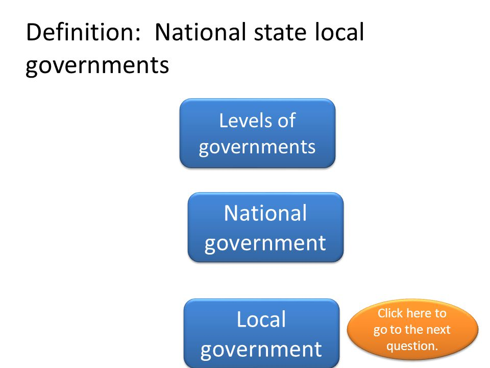 Definition: National state local governments