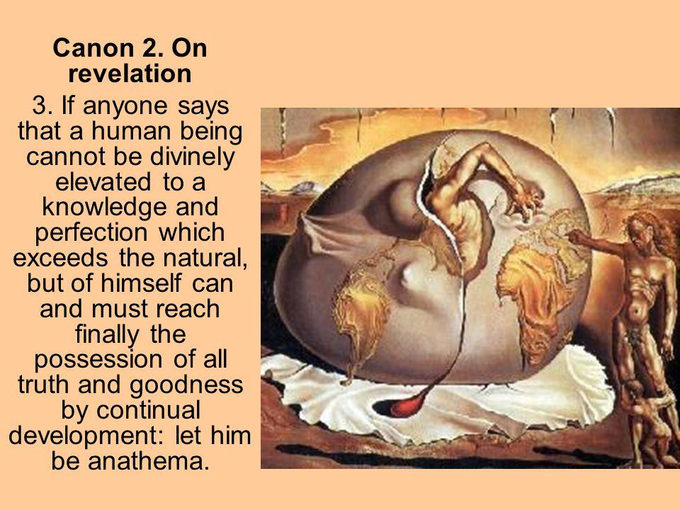 Canon 2. On revelation