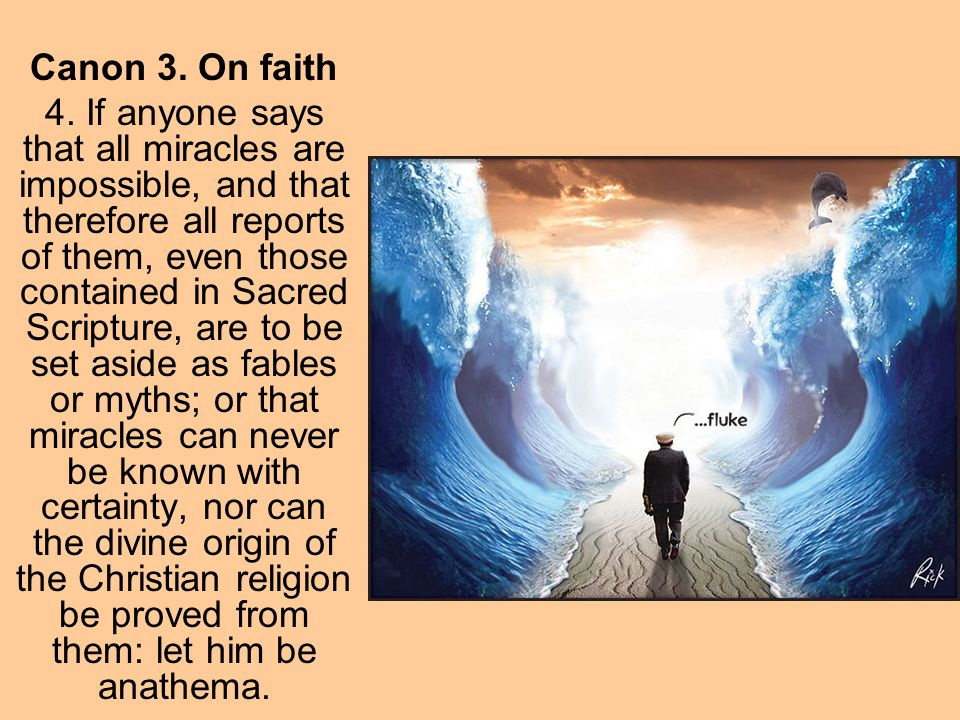 Canon 3. On faith