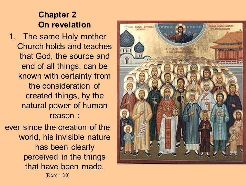 Chapter 2 On revelation