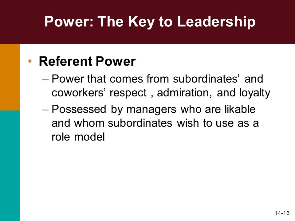 Power: The Key to Leadership