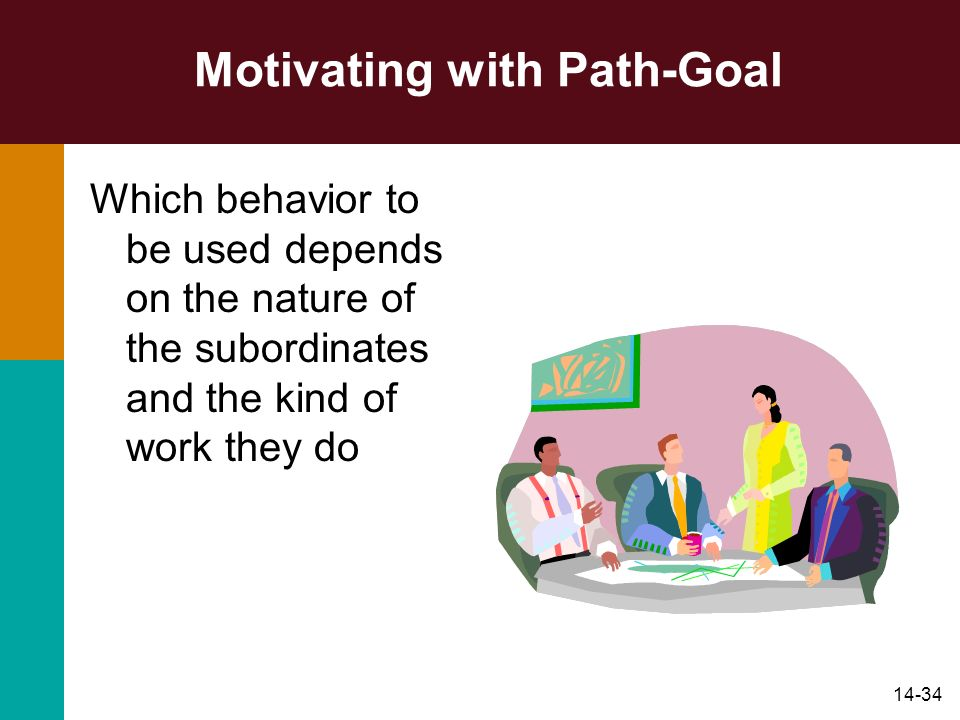 Motivating with Path-Goal