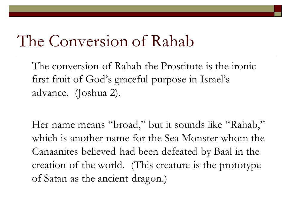 The Conversion of Rahab