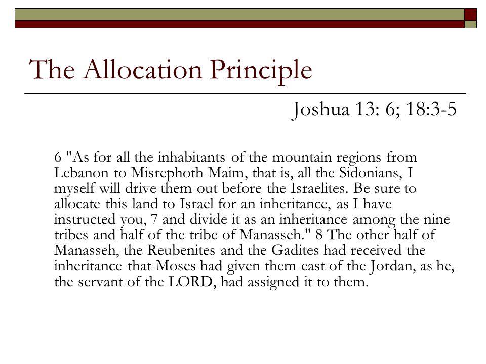 The Allocation Principle