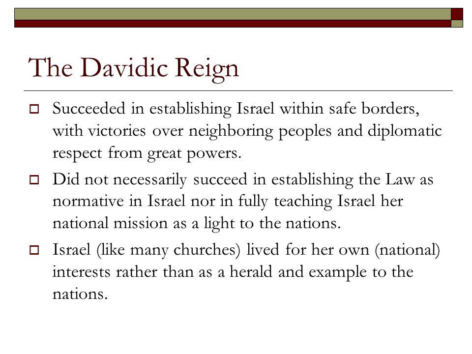 The Davidic Reign