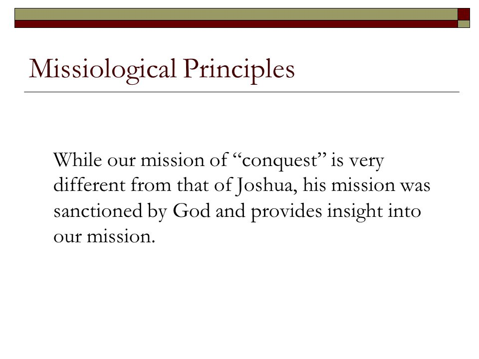 Missiological Principles