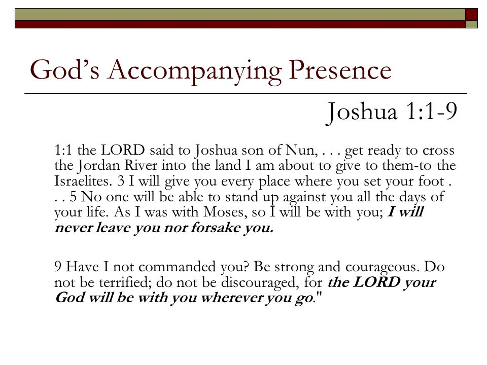 God's Accompanying Presence