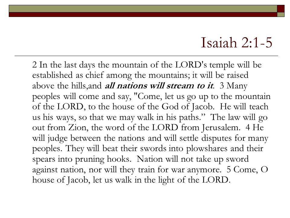 Isaiah 2:1-5